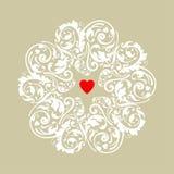 Ornamento do coração do círculo Imagem de Stock