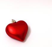 Ornamento do coração do Natal Fotografia de Stock Royalty Free