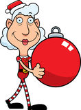 Ornamento do duende do Natal dos desenhos animados Imagens de Stock