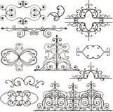 Ornamento do ferro de Wrough Imagem de Stock Royalty Free
