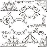Ornamento do ferro de Wrough ilustração royalty free