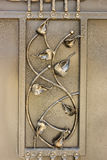 Ornamento do ferro forjado para portas e cerca Fotografia de Stock Royalty Free