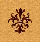 Ornamento do folheado Imagens de Stock Royalty Free