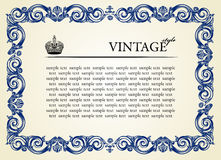 Ornamento do frame do vintage Imagem de Stock Royalty Free