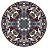Ornamento do laço do círculo, geométrico decorativo redondo Fotos de Stock