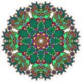 Ornamento do laço do círculo, geométrico decorativo redondo Fotografia de Stock