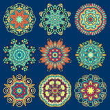 Ornamento do laço do círculo, geométrico decorativo redondo Fotografia de Stock Royalty Free