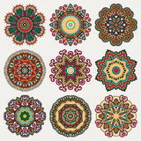 Ornamento do laço do círculo, geométrico decorativo redondo Imagens de Stock Royalty Free