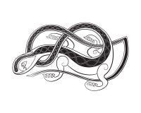 Ornamento do lagarto em de estilo celta Foto de Stock