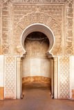 Ornamento do madrasah de C4marraquexe Fotografia de Stock