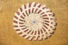 Ornamento do mosaico da fachada da bas?lica de St Mark em Veneza fotografia de stock