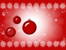 Ornamento do Natal Cartão do fundo do vetor Foto de Stock Royalty Free