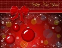 Ornamento do Natal. Cartão do vetor Imagens de Stock Royalty Free