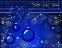 Ornamento do Natal. Cartão do vetor Foto de Stock
