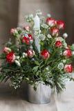 Ornamento do Natal com plantas naturais imagem de stock royalty free