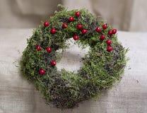 Ornamento do Natal com plantas naturais foto de stock