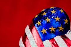 Ornamento do Natal da bandeira americana Imagem de Stock Royalty Free