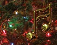 Ornamento do Natal da nota da música Foto de Stock Royalty Free
