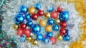 Ornamento do Natal, decorações, ainda vida, fundo, composição Foto de Stock