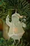 Ornamento do Natal do boneco de neve Foto de Stock
