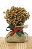 Ornamento do Natal do linho Fotografia de Stock