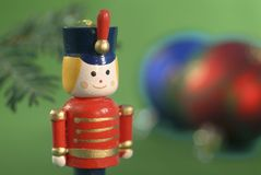 Ornamento do Natal do soldado de brinquedo Fotografia de Stock