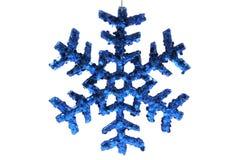 Ornamento do Natal - floco de neve azul Fotografia de Stock