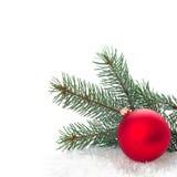 Ornamento do Natal na árvore de Natal com quinquilharias Imagens de Stock