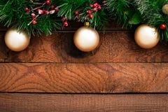 Ornamento do Natal na madeira Fotografia de Stock Royalty Free