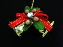 Ornamento do Natal no fundo preto Fotografia de Stock Royalty Free