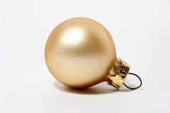 Ornamento do Natal no ouro Imagens de Stock Royalty Free