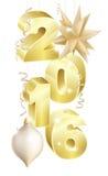 Ornamento do Natal 2016 ou do ano novo ilustração royalty free