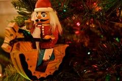 Ornamento do Natal - quebras-nozes imagens de stock