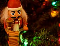 Ornamento do Natal - quebras-nozes fotografia de stock royalty free