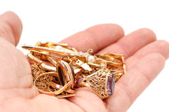 Ornamento do ouro Imagem de Stock Royalty Free