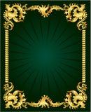 Ornamento do ouro ilustração royalty free