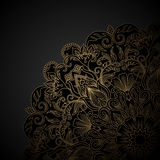 Ornamento do ouro do vetor. Fotografia de Stock Royalty Free