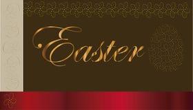 Ornamento do ovo do fundo da Páscoa Fotografia de Stock