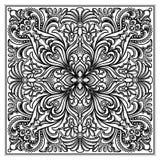 Ornamento do quadrado do engravery do vetor Fotos de Stock Royalty Free