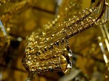 Ornamento do saxofone Foto de Stock Royalty Free