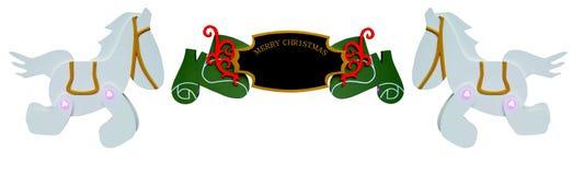 Ornamento do sinal do Natal Fotos de Stock Royalty Free