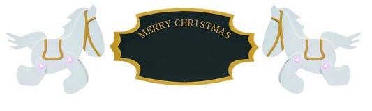 Ornamento do sinal do Natal Imagens de Stock