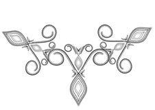 Ornamento do tatuagem Fotografia de Stock Royalty Free