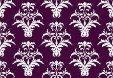 Ornamento do teste padrão do damasco do vetor telas ou fundos dos papéis de parede Foto de Stock Royalty Free