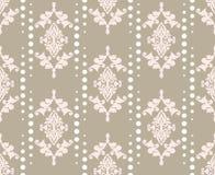Ornamento do teste padrão do damasco do vetor Textura luxuosa elegante para a matéria têxtil, as telas ou os fundos dos papéis de Foto de Stock Royalty Free
