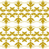 Ornamento do teste padrão do damasco do vetor Textura luxuosa elegante para a matéria têxtil, as telas ou os fundos dos papéis de Fotografia de Stock