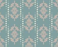 Ornamento do teste padrão do damasco do vetor Textura luxuosa elegante para a matéria têxtil, as telas ou os fundos dos papéis de Imagens de Stock