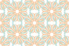 Ornamento do teste padrão do vetor Textura luxuosa elegante para a matéria têxtil, as telas ou os fundos dos papéis de parede Fotos de Stock Royalty Free