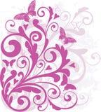 Ornamento do Valentim com coração-formas Imagens de Stock