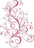 Ornamento do Valentim com coração-formas Foto de Stock